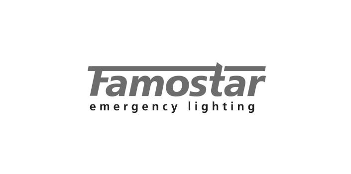 Famostar logo noodverlichting